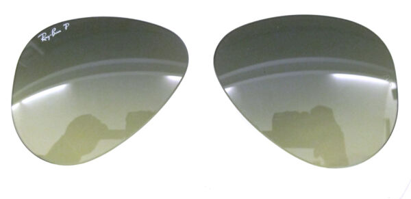 555ecf9a6b LENSES SPARE PART RAY BAN 3025 58 AVIATOR BLUE GRADIENT GREEN REPLACEMENT