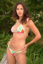 Katrinas Strappy Floral Ring Thong Bikini/Model/Stripper/Dancer/Made in usa/m-l