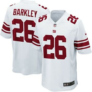 finest selection cee69 8d0f5 Details about Youth New York Giants Saquon Barkley Nike White 2018 NFL  Draft Pick Game Jersey