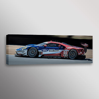 2017 Ford GT vs Corvette Imsa Car Racecar Automotive Photo Wall Art Canvas Print