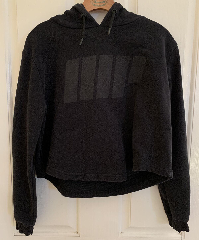MyProtein Sweatshirt Black MP Logo Crop Hoodie Women's MEDIUM