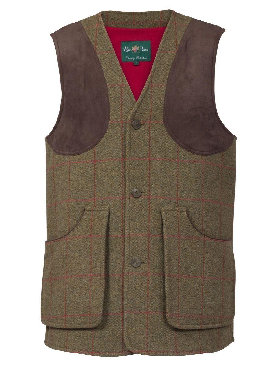 Alan Paine combrook Tweed Tiro Chaleco