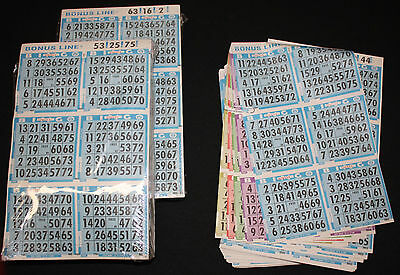 BINGO PAPER Cards sheets 6 on 7 up Blue rotation 25 packs FREE PRIORITY SHIP
