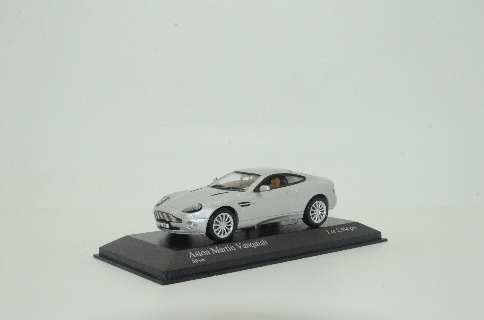 rara    Aston Martin Vanquish 2002 plata Minichamps 137224 1 43