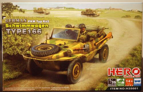1:35 Hero 35001 1942 Schwimmwagen VW Type 166 PKW Typ Ks 2