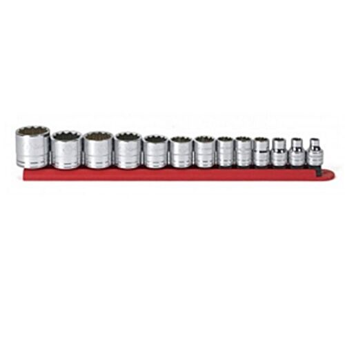 """80561 3//8/"""" Drive 12 Point SAE Standard Socket Set GearWrench 13 Pc"""