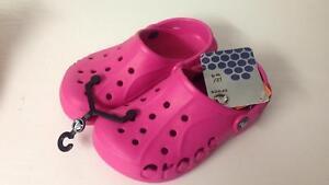 67a044c5453f5 Image is loading Crocs-Baya-kids-pink-crocs-fuchsia-j2-w4-