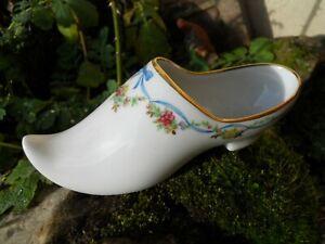 Ancien gros sabot soulier en porcelaine de F.M limoges guirlande de fleurs hM9nGwwd-09091905-166695212