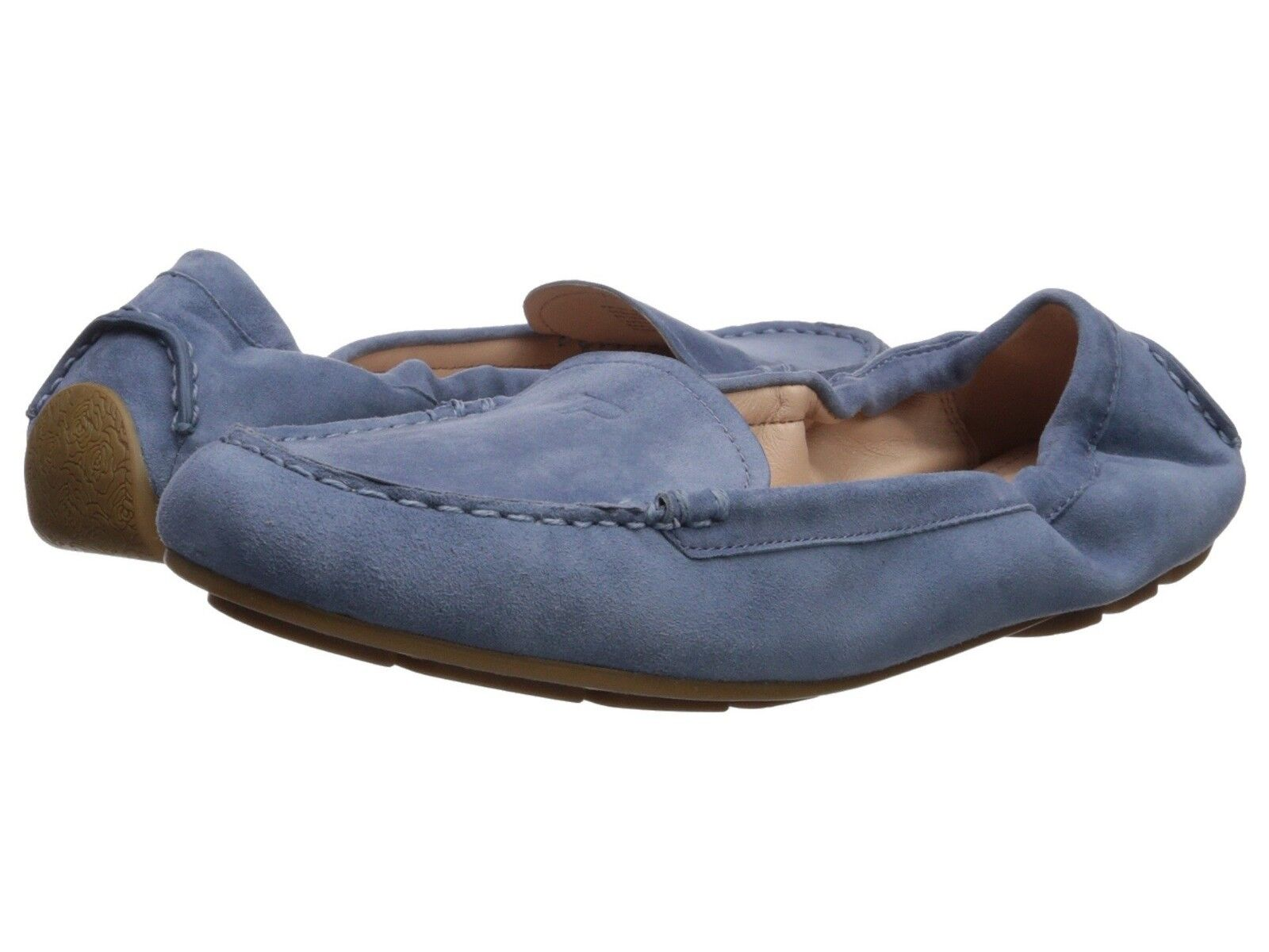 Taryn pink Women's Kristine Silky Suede Denim Denim Denim Driving Moccasin Slip-On shoes 0ea3b8