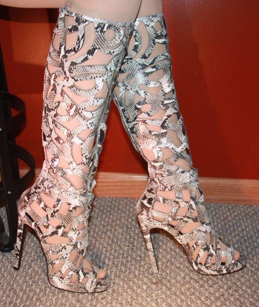 Scribble  boots by Jeffery Campbell Women's size 6.5 m
