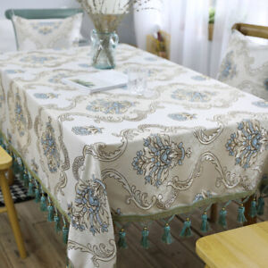 Chic European Lace Tablecloth Rustic Embroidered Table Cloth Cover Decor Q