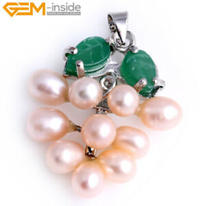 Freshwater Pearl White Gold Plated Pendant Natural For Jewelry Wpmen 5-6mm
