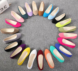 Women-039-s-Ballerina-Ballet-Flats-Shoes-Slip-On-Boat-Loafers-Single-Shoes-Size-NEW