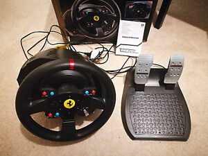 thrustmaster t300 ferrari gte steering wheel ps4 ebay. Black Bedroom Furniture Sets. Home Design Ideas