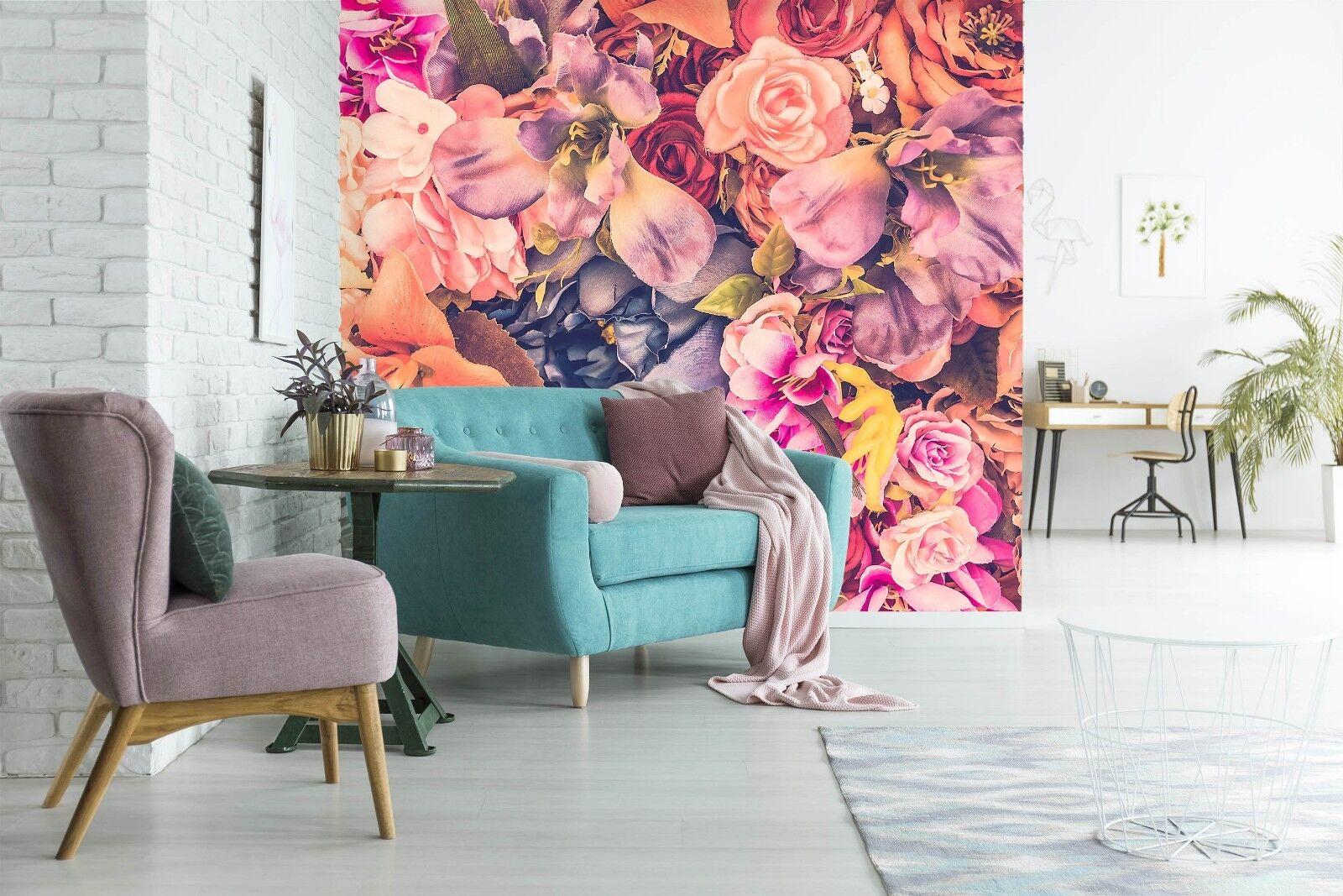 3D Flowers Oil Painting 6 Wallpaper Murals Wall Print Wallpaper Mural AJ WALL UK