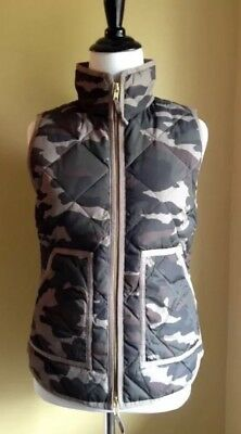 J S M Crew Mercantile Excursion Printed Quilted Puffer Vest In Camo NWT Size