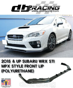 Mpx Style Subaru Wrx Sti Jdm Front Lip Urethane 2015 2017 Ebay