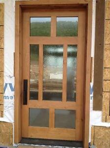 alder 42 x 96 contempory 7 lite front glass entry door ebay