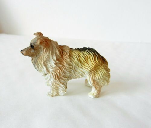 12th SCALE DOLLS HOUSE MINIATURE PET DOG RESIN ANIMAL FIGURE, COLLIE LIKE, NEW