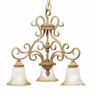 Details About Scrolled Iron Kichler Lighting Kitchen Island Ceiling Light Art Gl