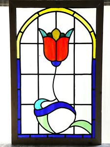Large Antique Stained Gl Window Six