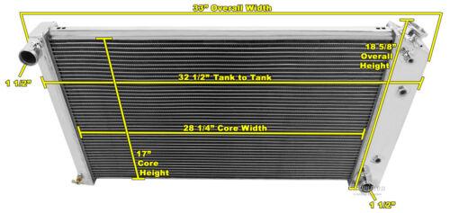 "17/""H x 28 1//4 Cadillac DeVille Custom Aluminum Radiator Fan Shroud /& 2-14/"" Fans"
