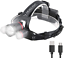 victoper Zoom Phare DEL rechargeable 4 Modes Wesho Head Torch lumière mode,