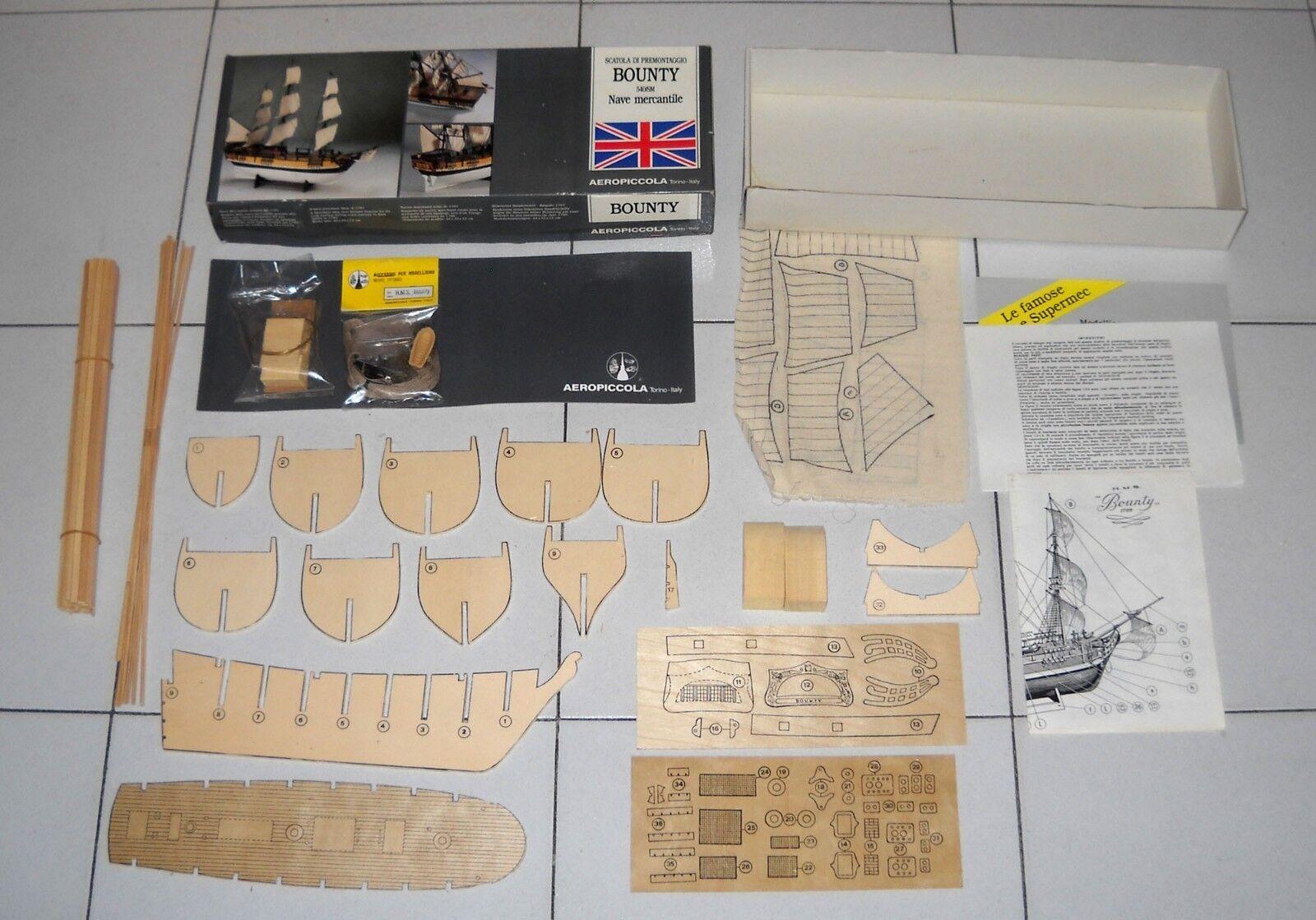 La paix est une bénédiction Model Kit BOUNTY Nave mercantile 1787 premontaggio AEROPICCOLA 540/SM HMS   Matériaux Soigneusement Sélectionnés