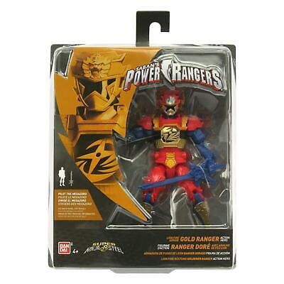 "Leone fuoco armor Gold Ranger Figura 12.5 cm POWER Rangers Super Ninja acciaio 5/"""