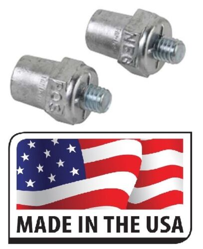 Negative SOLID LEAD 2 PC Universal Side Mount Battery Terminal Post Positive