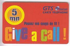FRANCE  TELECARTE / PHONECARD  PREPAYEE .. 5MN GTS CALL GRATUIT 11/2000 +N°
