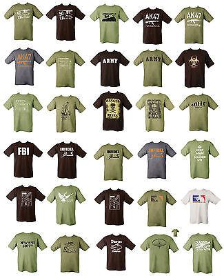 Military Printed Army Combat T-shirt Infidel Sniper AK-47 Taliban Afghanistan
