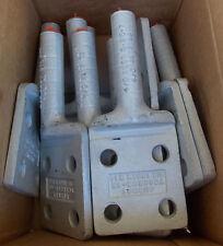 """NEW Burndy YCAK28R4N 4/0 AL 4 Hole 1/2"""" Stud Terminal Lug Nema - Lot of 2"""