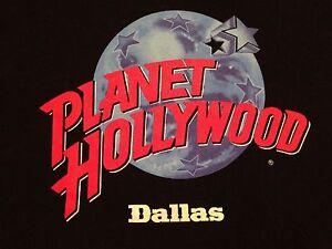 Men 39 s vintage planet hollywood dallas t shirt large ebay for Planet hollywood t shirt