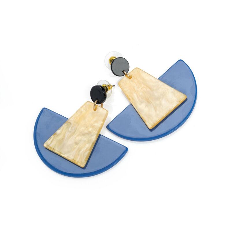 Ladies Blue Tone Brown And Black Tone Drop Earrings Fashion Jewellery