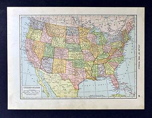 Map Of United States Washington Dc.1911 Hammond Map United States Of America Washington Dc Texas