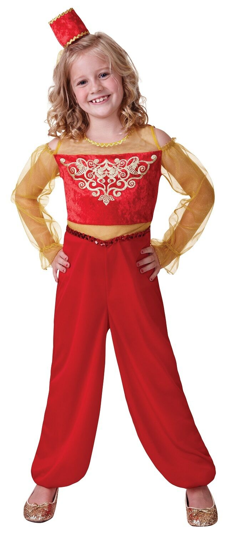 Mädchen-Rot Arabisch Arabisch Arabisch Nights Aladdin Jasmin Bauch Tänzer Kostüm Kleid Outfit | Luxus  | Großhandel  | Langfristiger Ruf  bccbe0