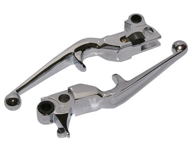 Hand Levers Brake Clutch Lever For Harley Davidson XL Softail FLSTN FLSTF Chrome