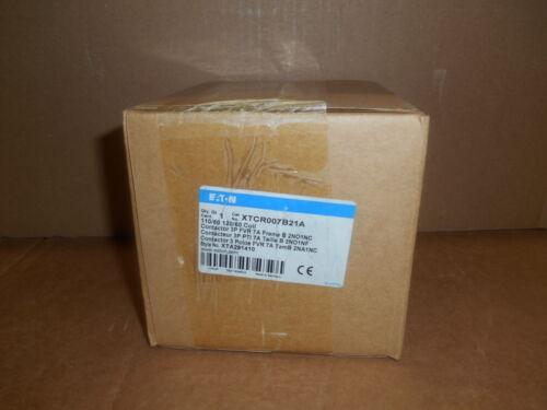 Eaton XTCR007B21A Contactor 3P FVR 7A Frame B 2NO1NC 120//60 Coil