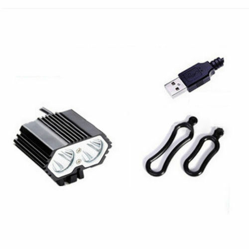 8000LM CREE XML T6 LED Headlamp Bicycle Bike Light USB Front Cycling Light Lamp