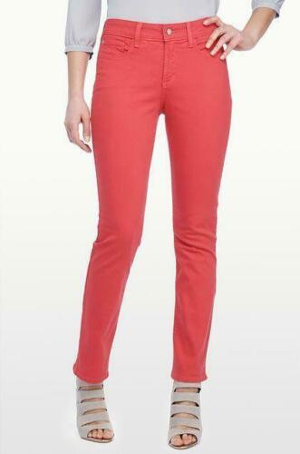 NWT NYDJ Not Your Daughters Jeans SHERI SKINNY ROUGE Red Orange $110 Petite Pant