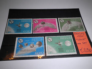 FRANCOBOLLI-STAMPS-PARAGUAY-1970-034-SPAZIO-SPACE-034-MNH-SET-CAT-X