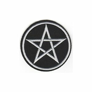 Pentagram Enamel Lapel Pin Badge Brooch Satanic Star Witchy Goth Pagan Biker Got