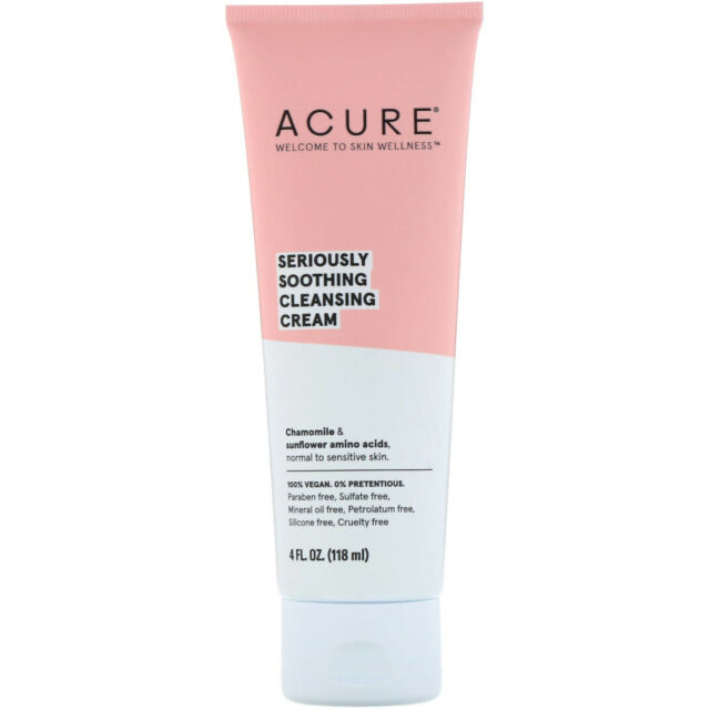 Acure Organics Seriously Soothing Cleansing Cream 4 Fl Oz