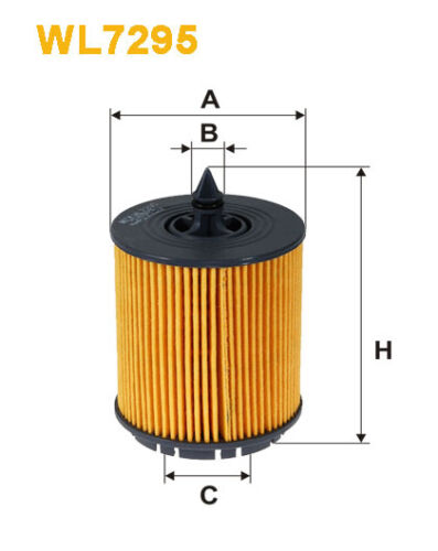WIX WL7295 Car Oil Filter Eco Cartridge Replaces HU6007x CH9018 OX258