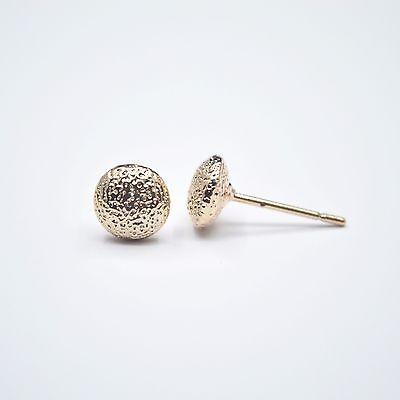 Shiny 14K//14ct Rose Gold Plated White Pearl Stud Earring Women Girl Gift