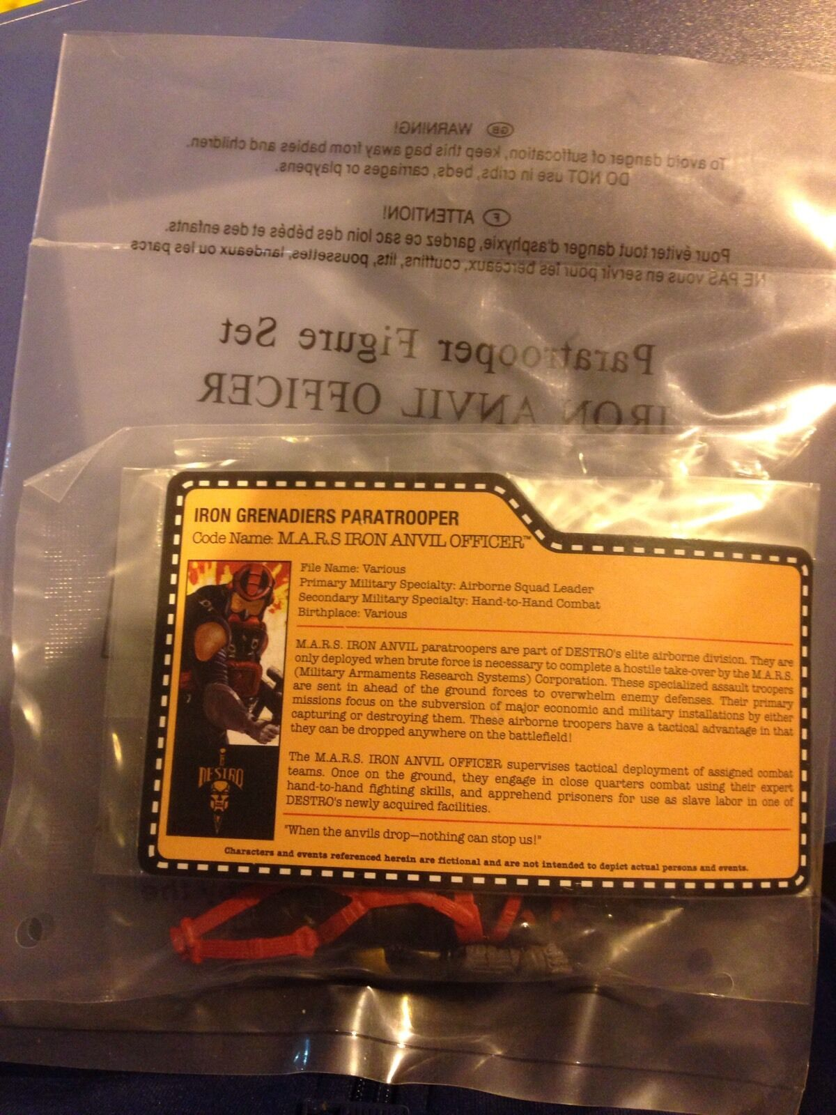 2015 GI Joe Joecon Iron Anvil Officer Paratrooper Attendee Parachute Drop Figure