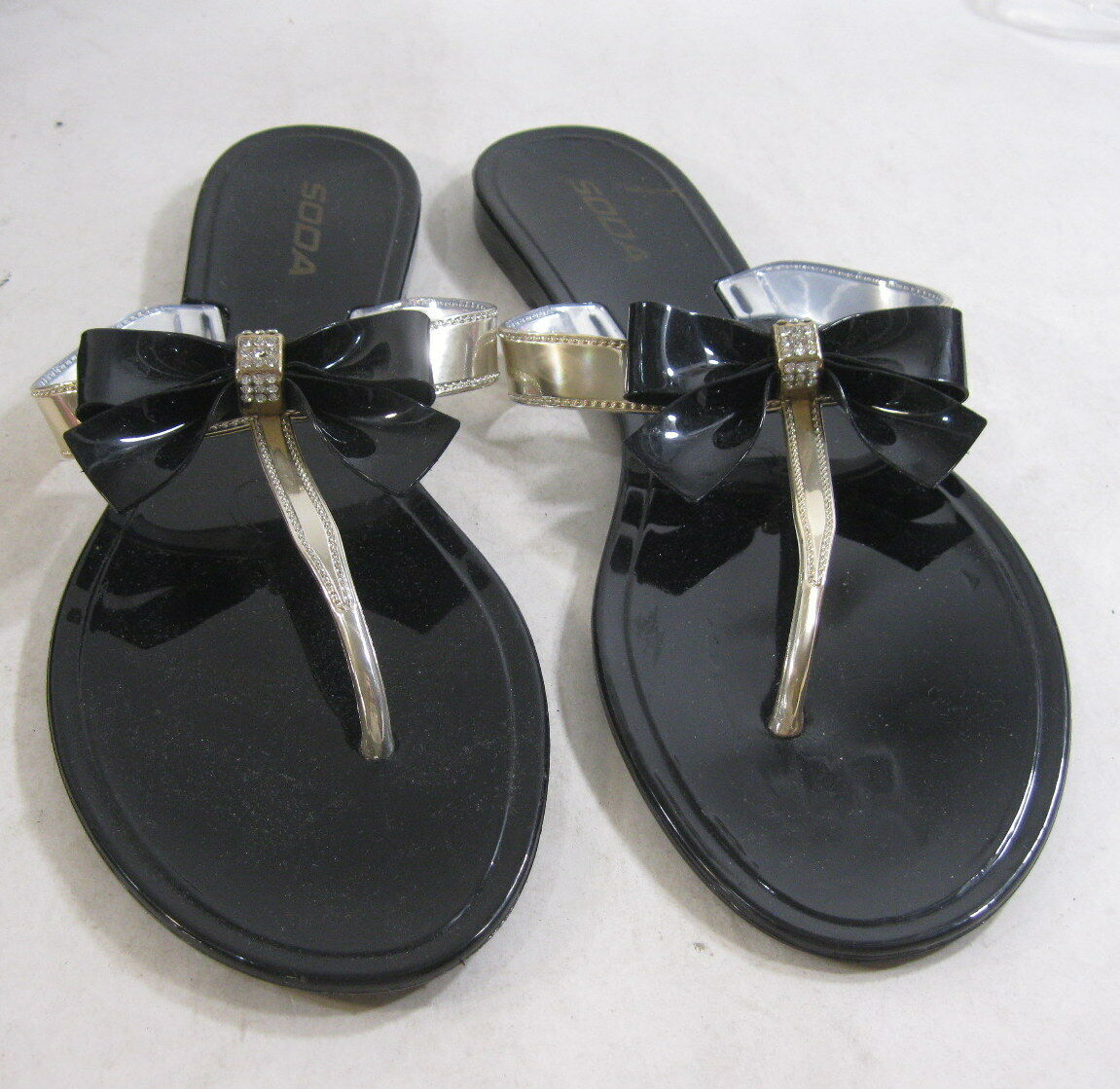 Womens Jellies Black Womens Summer Beach Retro Slip On Flats Jellies Womens Jelly Shoes Size 7 c39b77