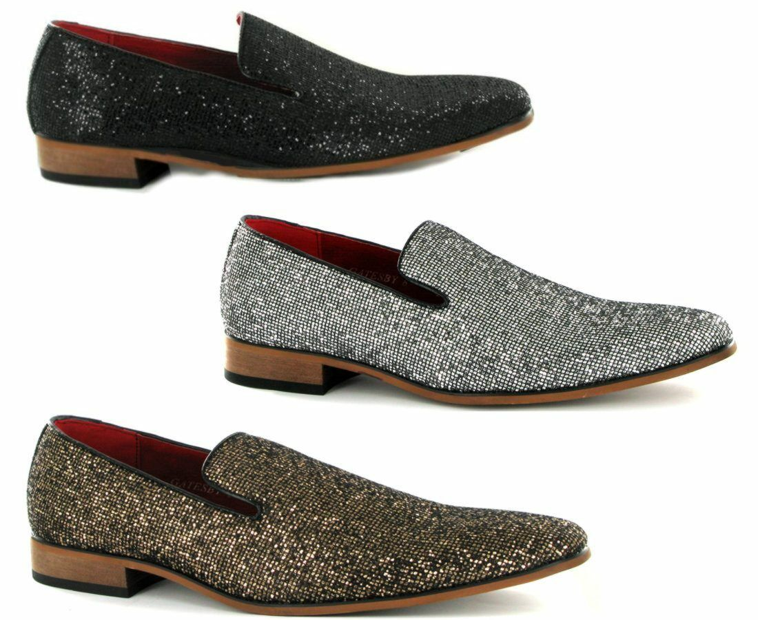 Mens Sparkling Diamond Loafer, Glitter, Party wear, Wedding, out going  Stell
