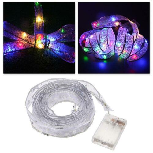 40 LED Ribbon Window Curtain Lights String Lamp House Party Decor Striking 4M